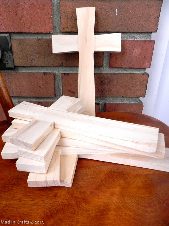 He is Risen! Easter Cross Centerpiece - Mad in Crafts