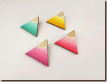 Triangle Brooch Neon Dip Dye