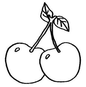 Dibujos de cerezas para colorear
