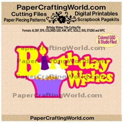 birthday wishes title freebie