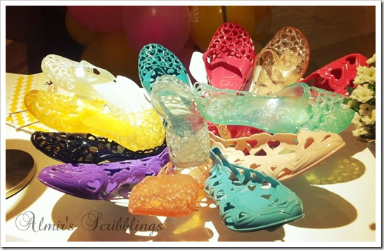 colourful jelly bunny shoes