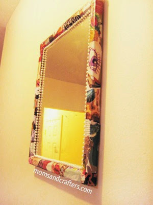 mirror frame from Moms and Crafters