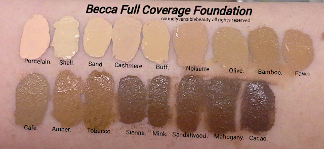 Becca Ultimate Coverage Complexion Creme; Review & Swatches of Shades