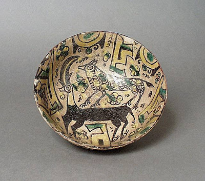 Bowl Iran, Nishapur Bowl, 10th century Ceramic; Vessel, Earthenware, underglaze slip-painted, 2 1/2 x 6 1/2 in. (6.35 x 16.51 cm) The Nasli M. Heeramaneck Collection, gift of Joan Palevsky (M.73.5.135) Art of the Middle East: Islamic Department.