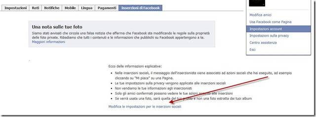 impostazioni della privacy sulle inserzioni di facebook