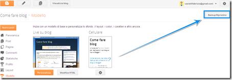 come salvare copia sicurezza template modello personalizzato blog blogspot