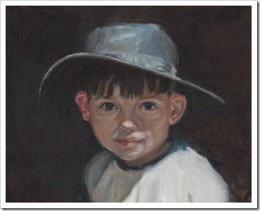 old time hat painting