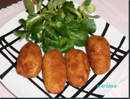 croquetas de patata y atún,racion copia