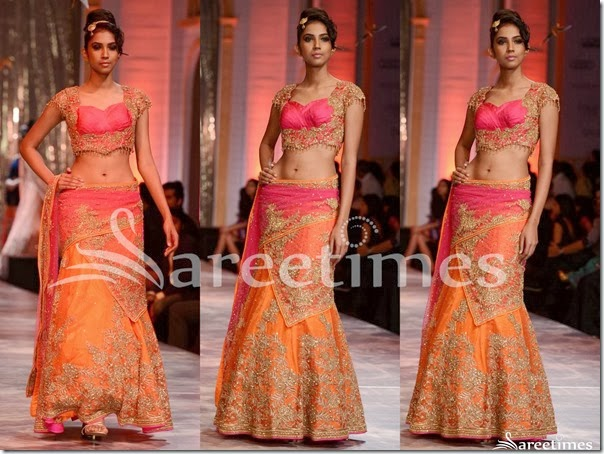 Neeta_Lulla_Orange_Embroidery_Lehenga