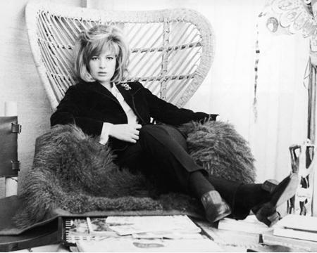 Monica Vitti nel marzo del 1965.