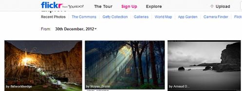 การค้นหาภาพากเวบไซต์ flickr