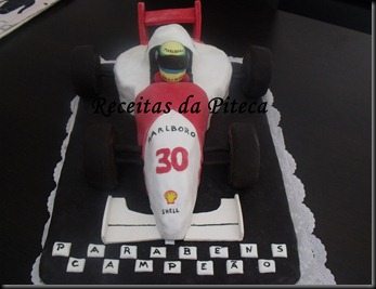 Bolo de aniversrio Carro de Formula 1 (Vegan)