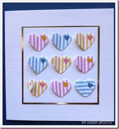 Stripey hearts card