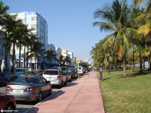ocean drive in Miami, Florida, United States