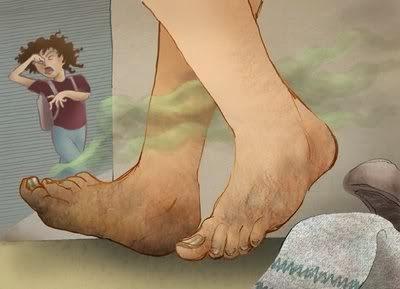 penyebab cara menghilangkan bau kaki