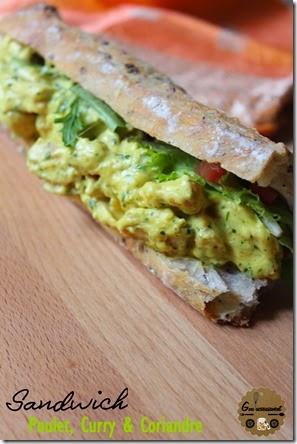 Sandwich Poulet, Curry et Coriandre 3