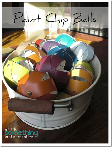 Paint Chip Balls Project Gallery