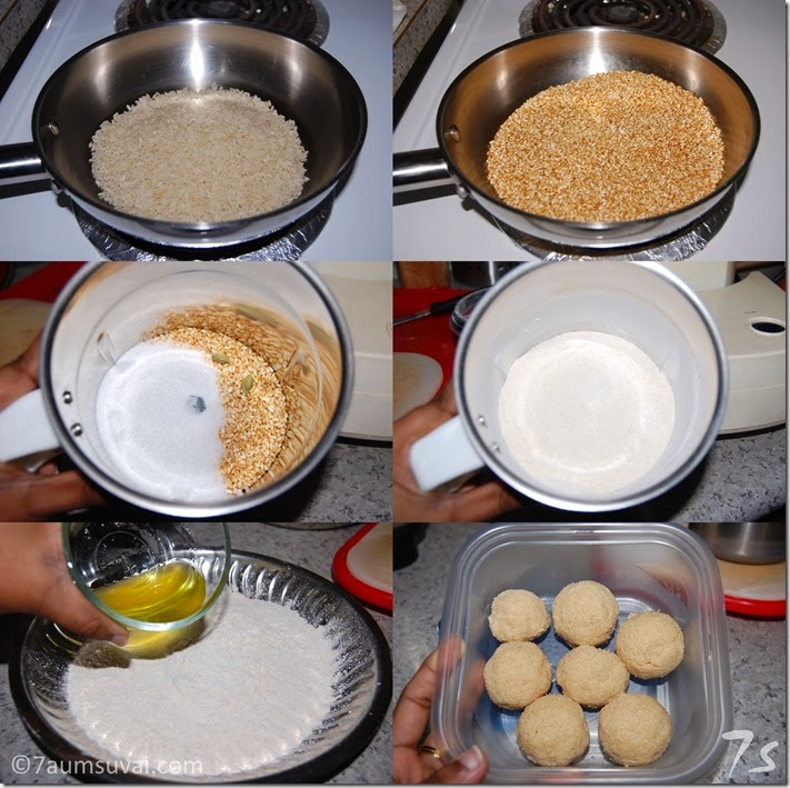Rice laddu process