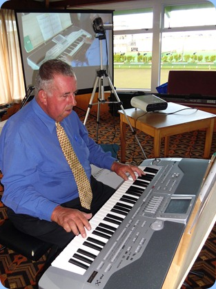 Committee Member, Ken Mahy, did the honours for the arrival music and then started the formal session off by playing one of his current favourites.