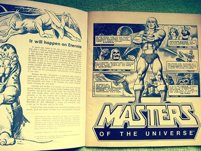 Masters Of The Universe Sticker Book Page 1