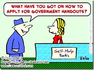 Self-help books - Govt. Handouts toon