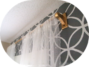 DIY Towel Rack Curtain Rod