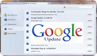 Current-Version-Plugin-Google-Up-date