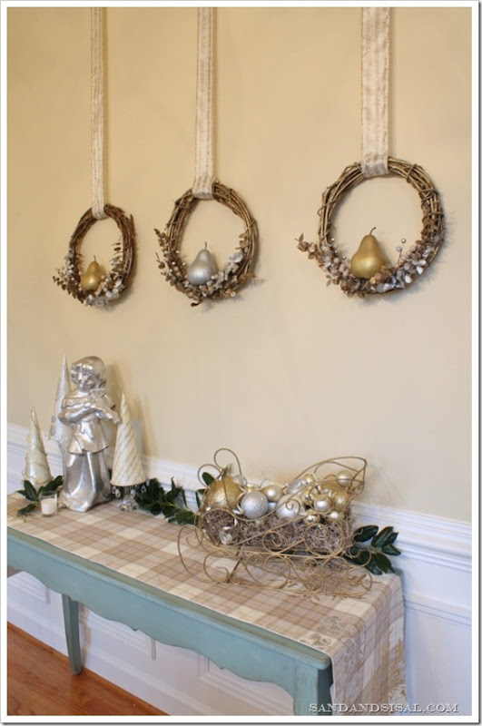 Glittered Pear Wreaths