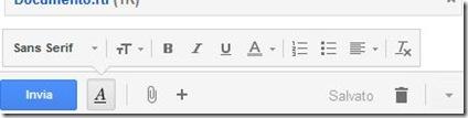Gmail gestire il testo della email
