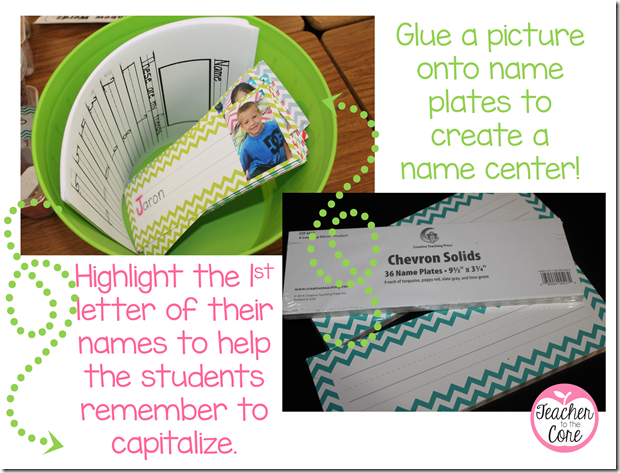 a names center is so fun for kids to practice capitalizing and learning the names of the kids in class