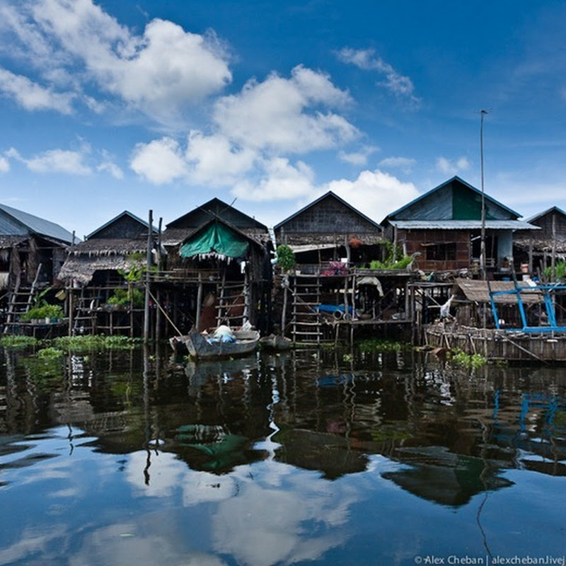 Floating Village of Kompong Phluk And Reversing Mekong River of Cambodia