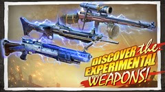 أسلحة متنوعة منها أسلحة إختبارية بقدرات قتالية عالية