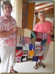 07.02 June & Helen w linus quilt