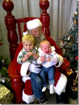 Crying with Santa