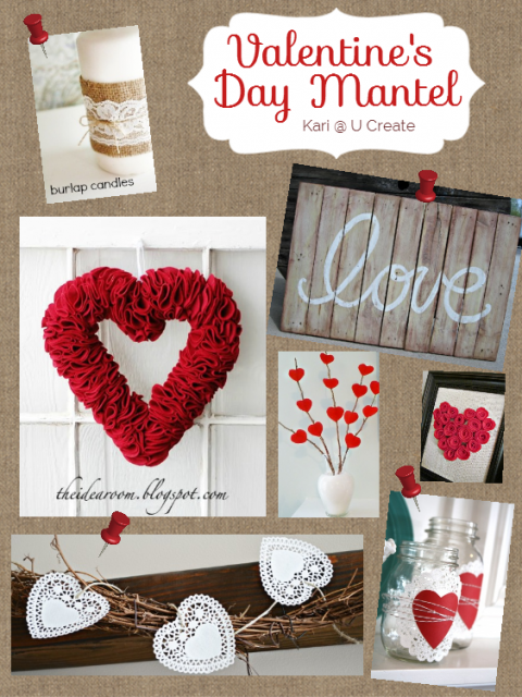 Valentine's Day Mantel Inspiration Board