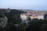 Southern view from Vysehrad - the wall extends into the city