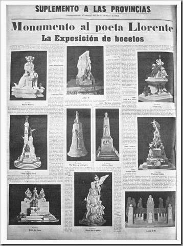 Bocetos presentados (Las Provincias, 14 de mayo de 1914)