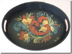 rosemaling tray