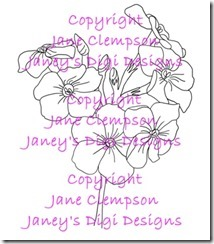 Phlox - Janey's Digi Designs - Watermarked