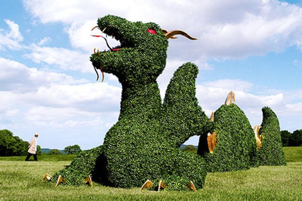 Neiman-Marcus Dragon Topiary