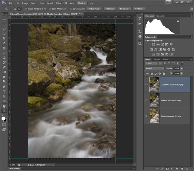 Photoshop CS6 Comparison Layers