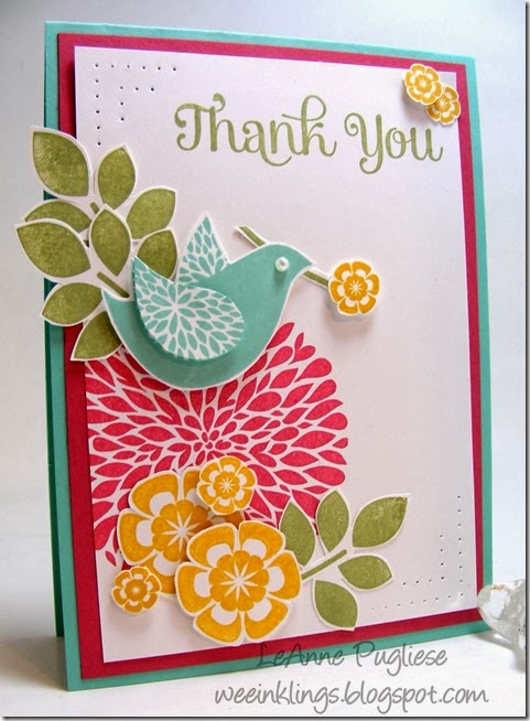WeeInklings LeAnne Pugliese Paper Players 178 Betsy's Blossoms Stampin Up