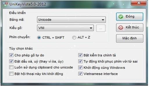 UniKeyVista5.0-2012