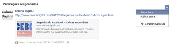 Como editar post agendado no Facebook