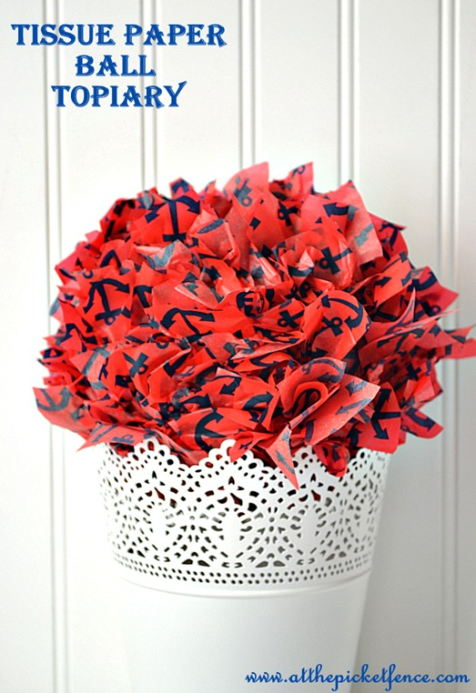 Tissue Paper Ball Topiary