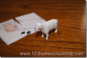 farm animal matching heads and tails
