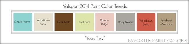 Valspar 2014 paint color trends - yours truly