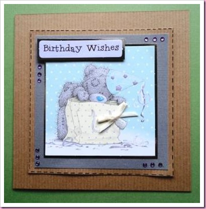 Kraft Tatty Teddy Card