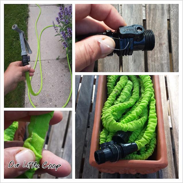 The Pocket Hose expanding garden hose, shut off, material