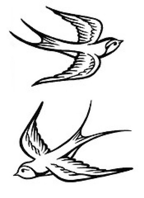 Swallow Tattoo Line Drawing : Dibujos para colorear golondrinas